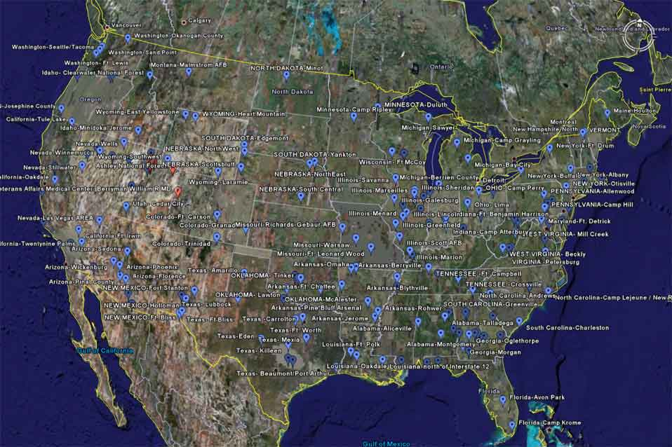 locations of concentration camps. FEMA Camp Locations Nation